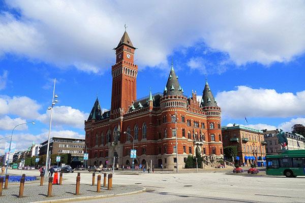Helsingborgs rådhus. Idag finns Svensk Säkerhetstjänst på flera orter med kontor på två adresser i Helsingborg.